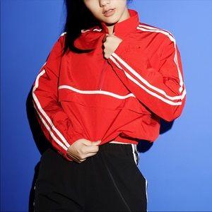 NWT Red Stripe Polyester 90s Windbreaker